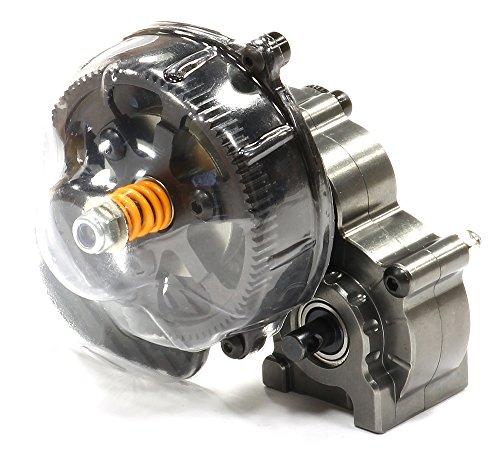Integy RC Model Hop-ups C24954GUN Billet Center Main Gearbox w/Metal Gears for Axial SCX-10 Honcho, Jeep & Dingo