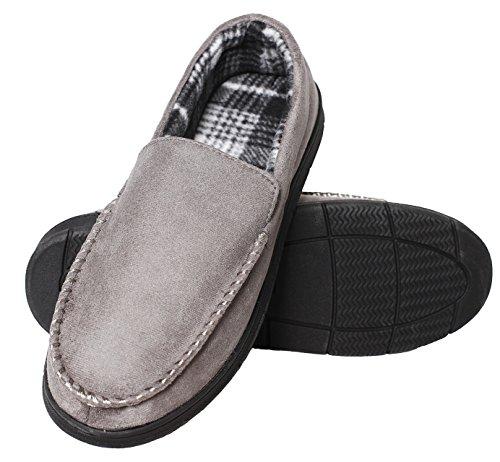Carebey Heren Comfortabele Flats Indoor En Outdoor Loafers Rijden Mocassins Slippers Schoenen Grijs