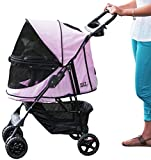 Pet Gear No-Zip Happy Trails Pet Stroller for Cats/Dogs, Zipperless Entry, Easy Fold with Removable Liner, Storage Basket + Cup Holder Review