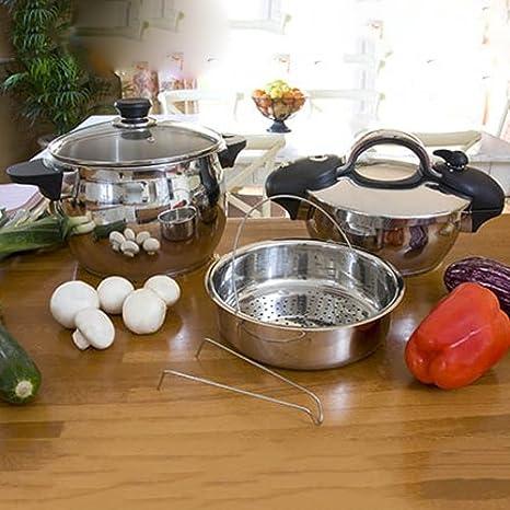Newlux - set de ollas gourmet 8 l + 4 l newchef: Amazon.es: Hogar