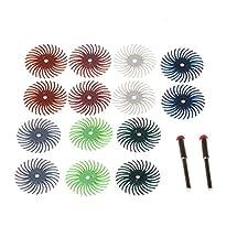 ZFE 25mm Detail Abrasive Brush Wheel Burr Mixed Grit Coarse For Proxxon Dremel Rotary Tools Pack Of 14Pcs
