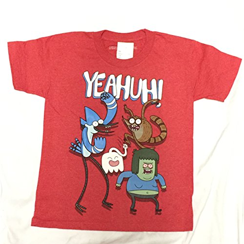 Cartoon Network Adventure time Yeahuh Kids Youth T-Shirt (Large, RED) (Big Youth T-shirt Time)