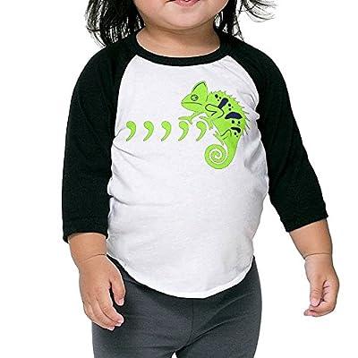 Saroyan Comma Chameleon Baby Raglan T-Shirts Baseball Tee 3/4 Sleeve