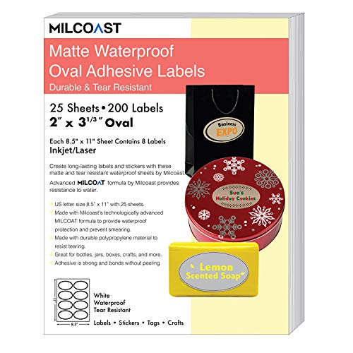 (Milcoast Matte Waterproof Tear Resistant White Blank Adhesive 2