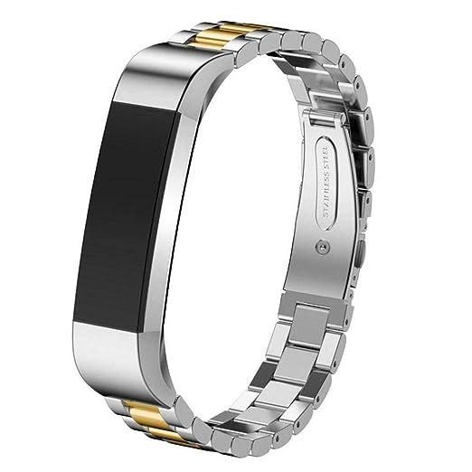 Scpink Diseño Especial para el Reloj Inteligente de Acero Inoxidable Fitbit Alta HR. Correa de