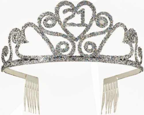 Forum Novelties 21st Birthday Glitter Tiara (21st Birthday Tiaras)