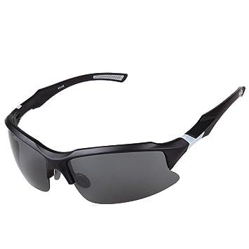 VITALITE antiniebla gafas para ciclismo bicicleta polarizadas para Running Driving Racing Blanco blanco