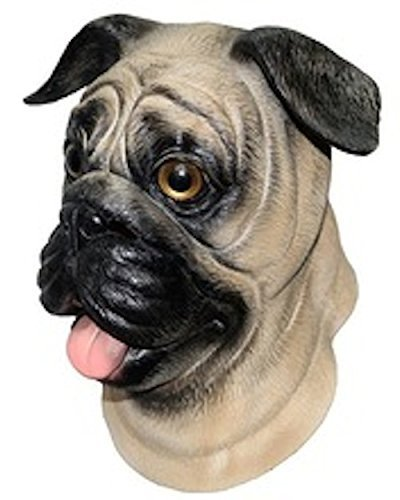 Pug Dog Latex Mask Canine Animal Halloween Pet 'The Rubber Plantation tm' by The Rubber Plantation tm ()