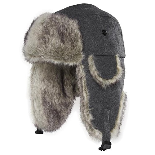 b31d748b99a5a Chaos 11G3-2441 Men s Dylon Wool Blend Trapper Hat (Unisex