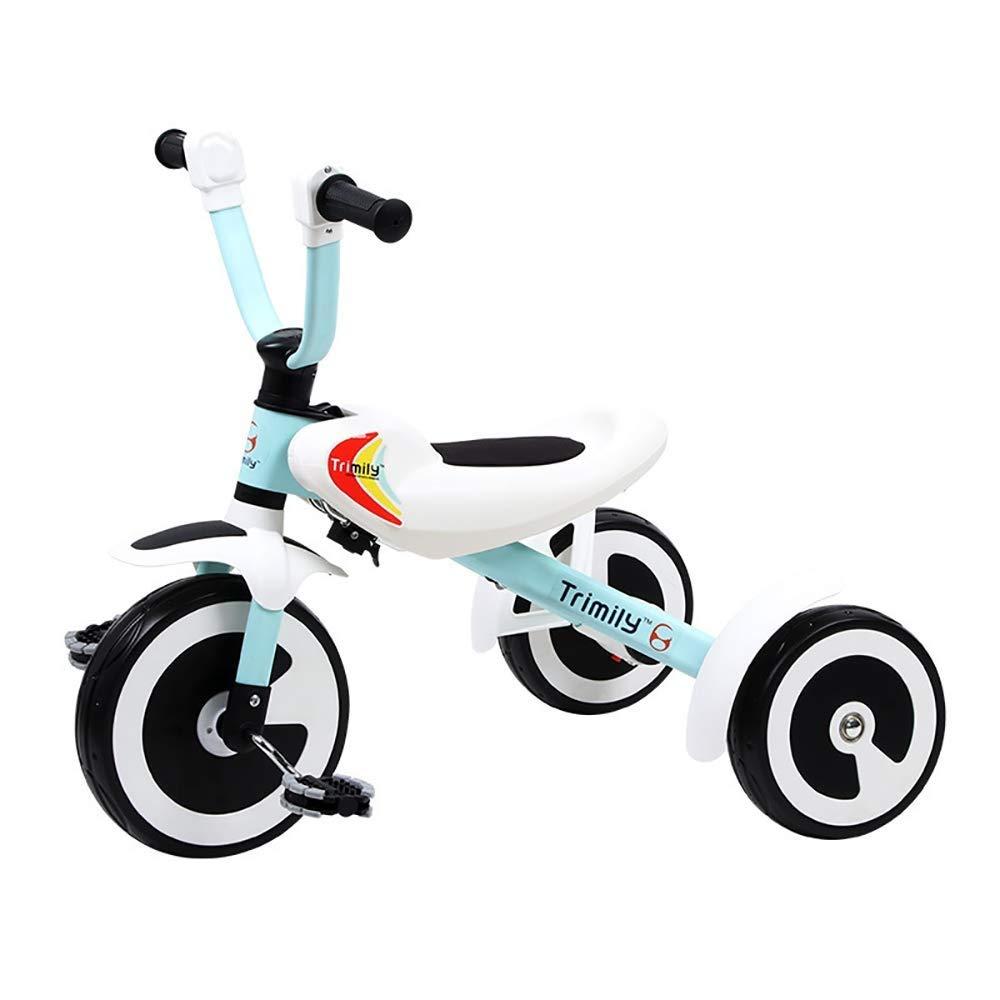 el precio más bajo azul Triciclo Triciclo Triciclo De Niños Trike, 1 Año De Edad Plegable Ultraligero Asiento Ruedas Silenciosas Ajustables 3 Ruedas Manija De Empuje  promociones de descuento