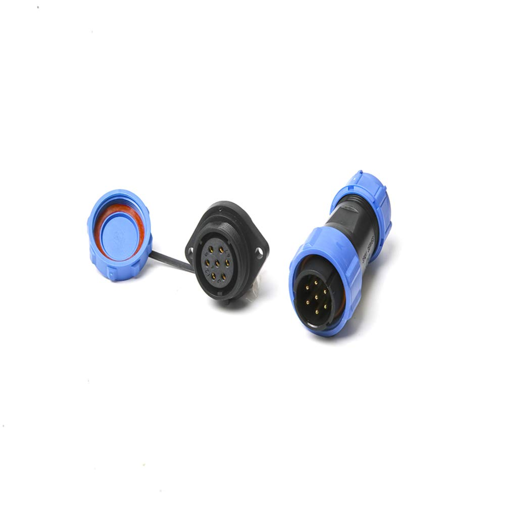 Conectores impermeables IP68,Roeam Conectores SP17 circulares Socket 17mm,Conector de aviaci/ón conector hembra,2 pin//3 pin//4 pin//5 pin//7 pin//9 pin