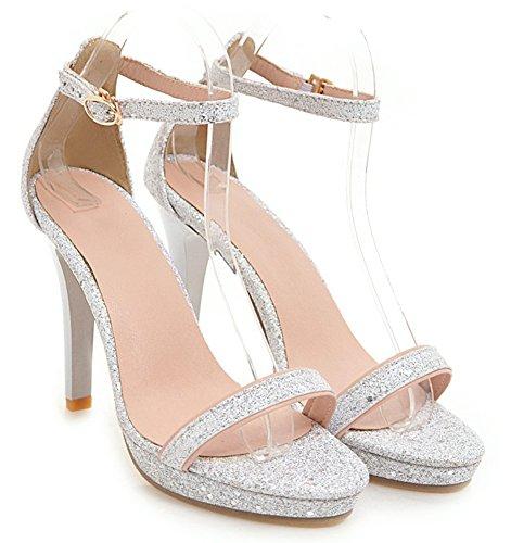 Aisun Femme Stiletto El Bride Cheville Paillettes rwTw0xqHB