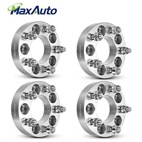 MaxAuto 4Pcs 1.25'' 5x108 to 5x114.3 Wheel Adapters M12x1.5, 5x4.25 to 5x4.5 Wheel Spacers Fit For 2010 2011 2012 2013 2014 2015 2016 Ford Focus 2014 2015 2016 Jaguar XJR 13 14 15 16 Lincoln MKZ Silver by MaxAuto