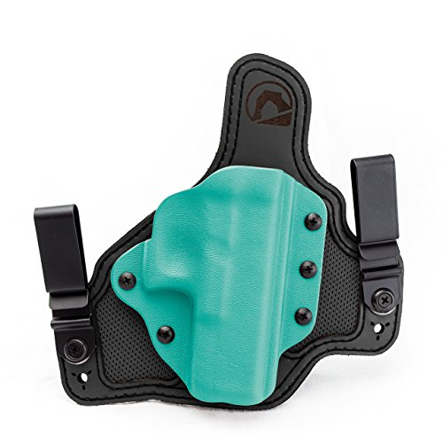 ADM Breathable Hybrid Holster for H&K VP9SK Black/Dark Grey/Tiffany Blue - Right - Hk Tiffany