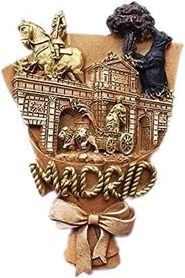 Weekinglo Souvenir Imán de Nevera Madrid España 3D Resina Artesanía Hecha A Mano Turista Viaje Ciudad Recuerdo Colección Carta Refrigerador Etiqueta: Amazon.es: Hogar