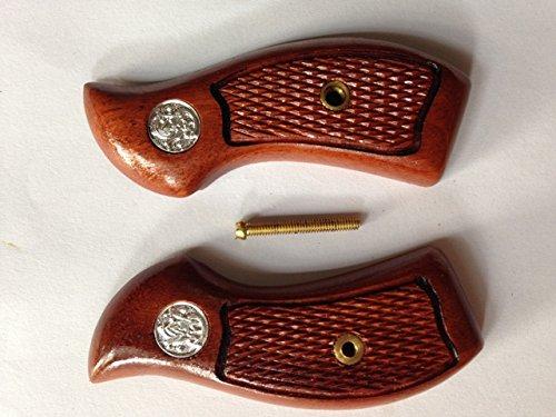 Rosewood-Smith-Wesson-J-Frame-Round-Butt-Revolvers-Handgun-Handmade-Grips-Gun