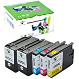 Supricolor 1Set+1BK High Yield Replacement for hp 932 hp 933 hp 932xl hp 933xl Ink Cartridges for HP officejet 6600 Officejet 6700 6100 7110 7610 7612 Printer