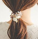 usongs imports hair ornaments head ornaments sweet and elegant ladies beaded balls ponytail Tousheng hair rope hair ring