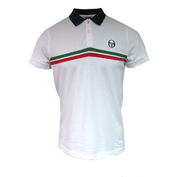 Sergio Tacchini Polo Hombre 36638-SUPERMAC Blanco L: Amazon.es ...