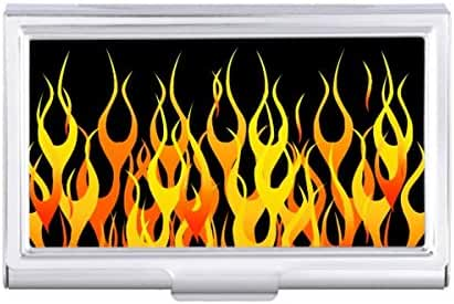 Hot Racing Flames Graphic Card Holder Case