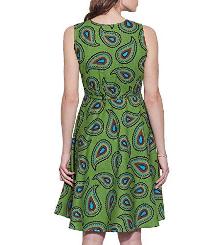 Vêtements pour femmes Robe en coton imprimé, lavable en machine, W-CPD42-1623, Taille-42 pouces