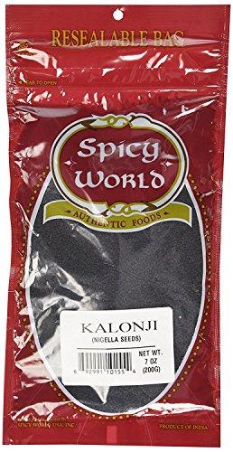 Seeds Nigella (Spicy World Kalaunji (Onion Seeds/Nigella Sativa/Black Seeds) 7-Ounce Bag)