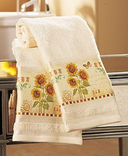 Set of 2 Sunflower Bath Towels by GetSet2Save