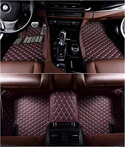 2 Mercedes Door Coupe (Okutech Custom Fit XPE Leather 3D Full Surrounded Waterproof Car Floor Mats for Mercedes Benz C Class C180 C200 C250 C260 C300 C350 2 door Coupe,Coffee)