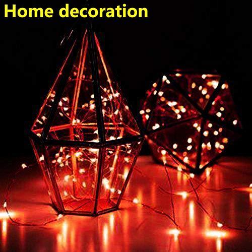 Solar LED String Light, Elevin(TM) 1M 10LED Solar Cork Wine Bottle Stopper Copper Wire String Lights Fairy Lamps (Red)