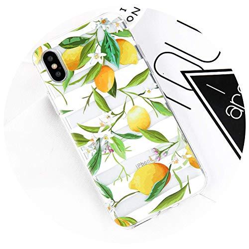 Phone Case for iPhone X 8 7 6 6S Plus Cartoon Fruit Delicious Summer Cactus Flower Soft TPU Cover Cases for iPhone X,Cherry,for iPhone 6 6S,WhiteLemon,foriPhone6Plus6sP