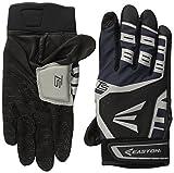 Easton Hyperskin - HS Turboslot Adult Batting Gloves, Black/Grey, Large