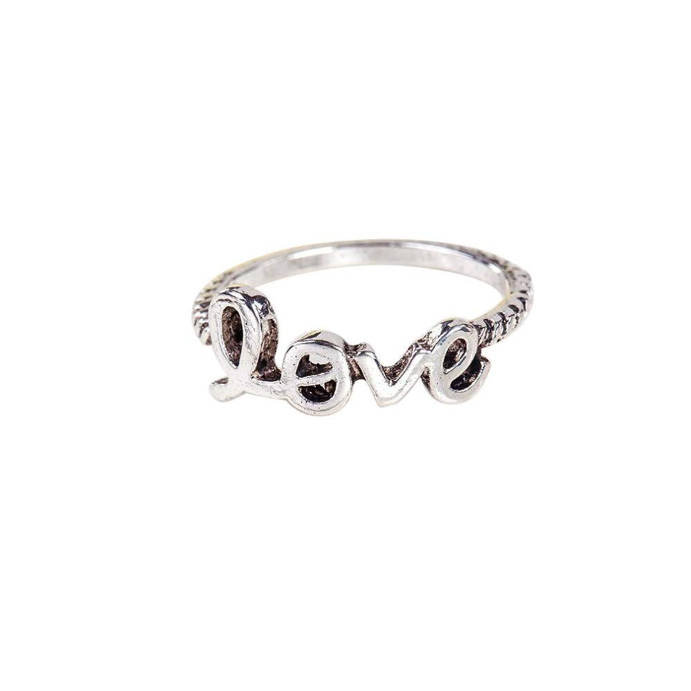 BOOBODA Simple Adjustable Ring Star Moon Five-Pointed Star Ring Alloy With Diamond Ring(Silver,03)