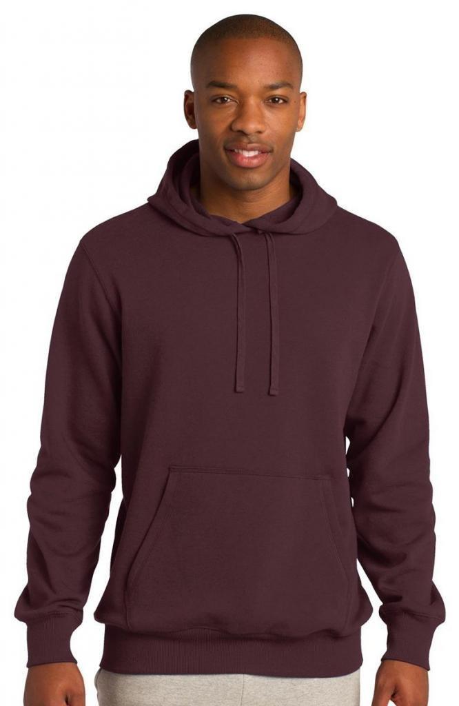 Sport-Tek Men's Pullover Hooded Sweatshirt L Maroon by Sport-Tek