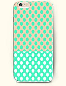 Turquoise And White Dots - Polka Dot Series - Phone Cover for Apple iPhone 6 Plus ( 5.5 inches ) - SevenArc Authentic...