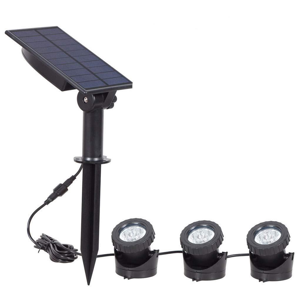 Yliquor Solar Powered LED Spot Light Lamp Waterproof Spotlight Lights for Pool Pond Outdoor Garden Decorations (3 PCS LED) by Yliquor