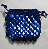 Dragonhide Dice Bag Knitted Scale Armor - Blue