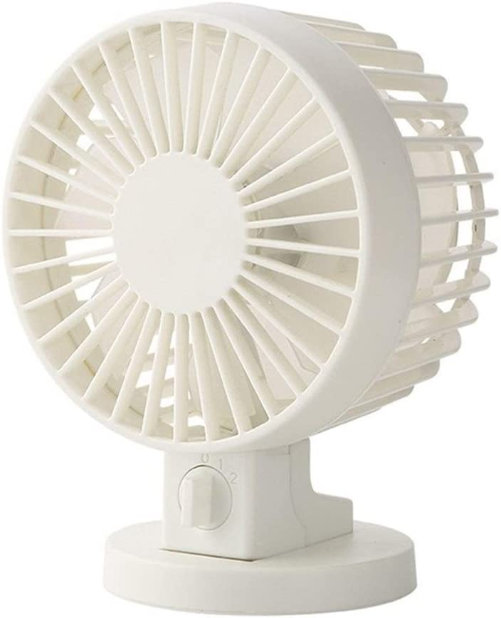 Color : White Mini Portable Cooling Fan Mini USB Fan for Office Home Portable Computer Electric Fan Double-Blade and Double-Motor Style