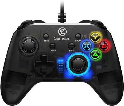 GameSir T4w Mando con USB Cable, Controlador Gamepad Translúcido para Juegos para Windows PC / Ordenador: Amazon.es: Electrónica