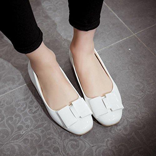 Show Shine Womens Fashion Bows Flats Shoes White