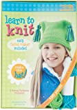 LEISURE ARTS 46771 Learn to Knit Kit, Hat