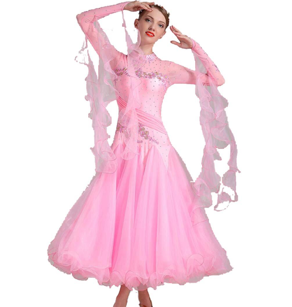 F L SMACO Femmes Modernes Valse Tango Danse VêteHommests Standard Robes de Concours de Danse de Salon