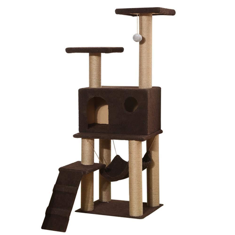 Hexiansheng Cat Climb Trees Cat Litter Cat Scratch cat toy cat Platform Multi wooden Cat