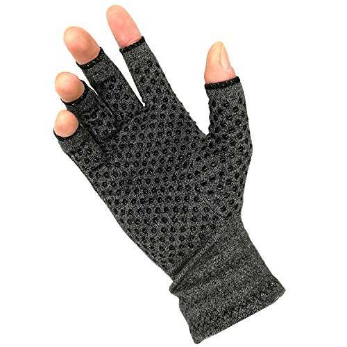 Arthritis Gloves Compression Gloves for Rheumatoid, RSI, Carpal Tunnel, Hand Gloves Fingerless for Computer Typing and Dailywork Hand Gloves Pain Relieve Support for Hands and Joints (Small)