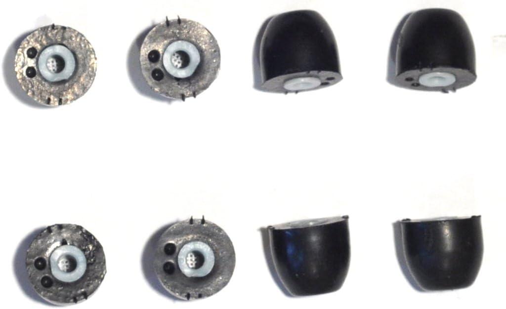 8 PACK Large SHURE EABKF1-10L PA910L Replacement Black Foam Ear tips sleeves fit SHURE SE110 SE115 SE210 SE215 SE310 SE315 SE420 SE425 SE530 SE535 E3c E3g E4c E4g E5c and Westone Noise Isolating In-Ear Headphones Earphones