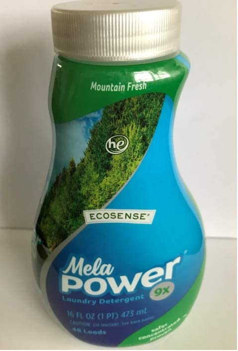MelaPower 6x HE Laundry Detergent- Mountain Fresh, 24 Fl Ounces- 48 Loads