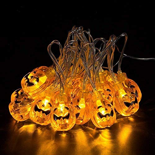 iGearPro Pumpkin LED String Lights, 7foot 20 LED Waterproof Decorative Lights Dimmable for Indoor and Outdoor, Bedroom, Patio, Garden, Wedding, Parties, UL Listed (Warm White)