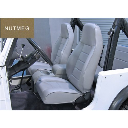 Rugged Ridge 13402.07 Factory Style Nutmeg Front Replacement Seat with Recliner by Rugged Ridge