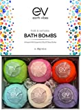 #2: Earth Vibes Organic & Natural Bath Bombs Kit Set - Large Handmade Essential Oil Lush Fizzies Bubble Spa To Moisturize Dry Skin - Best Gift Ideas for Women, Girlfriend & Kids - 6 x 4.2 oz