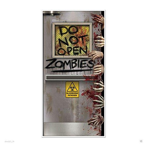 (HALLOWEEN Walking Dead Party ZOMBIE LAB Do Not Open DOOR COVER Decoration Prop Creepy)