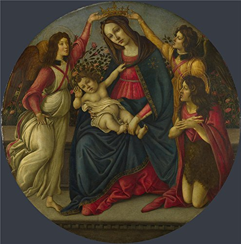 The Perfect Effect Canvas Of Oil Painting 'Workshop Of Sandro Botticelli The Virgin And Child With Saint John And Two Angels ' ,size: 20 X 20 Inch / 51 X 51 Cm ,this Amazing Art Decorative Canvas Prints Is Fit For Hallway Gallery Art And Home Gallery Art And Gifts
